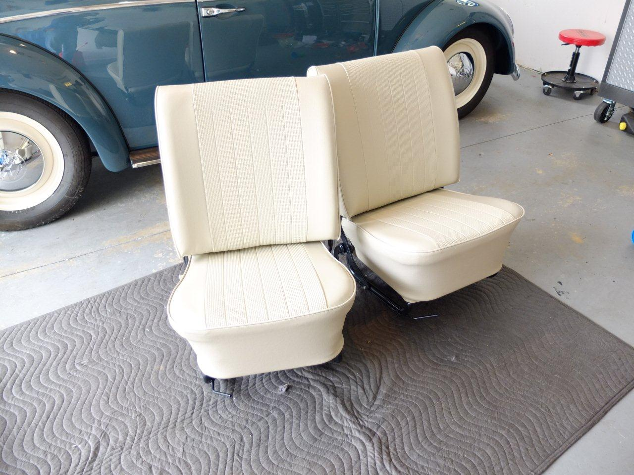 Seat Covers Installed 1966 VW Beetle Project