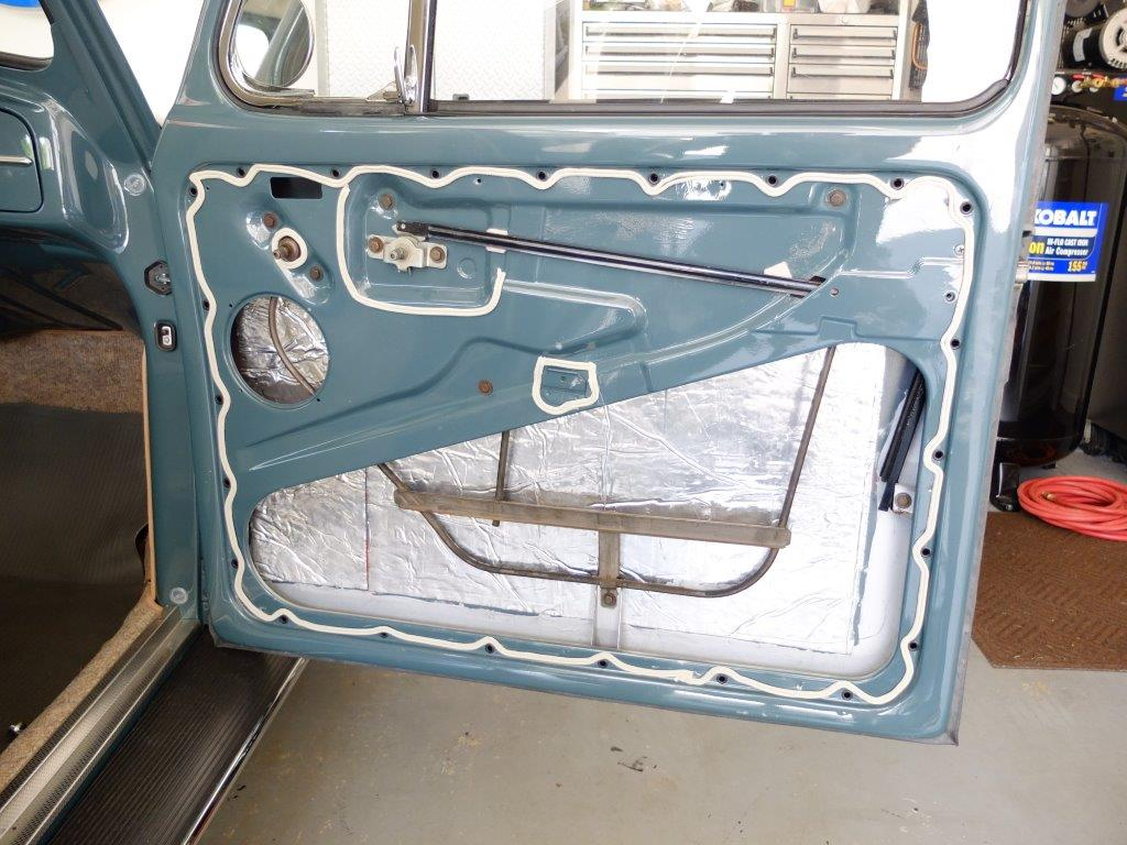 Door Panels Amp Moisture Barrier 1966 Vw Beetle Project